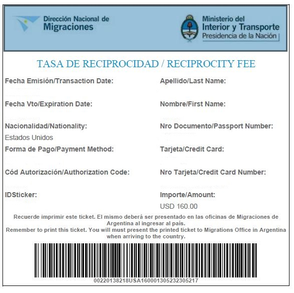 example of Visa